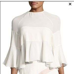 Alexis Albania Silk Ruffle Hem Boho Shirt